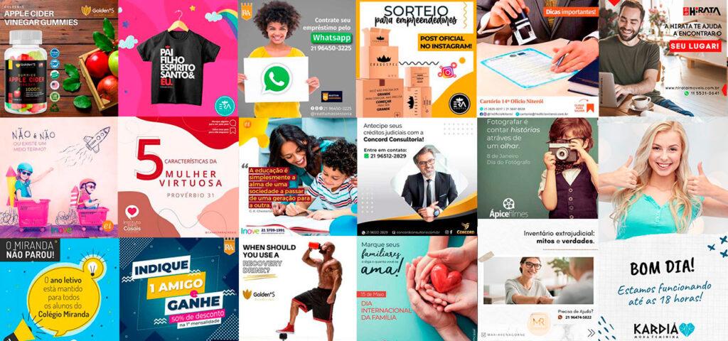 Artes para Redes Sociais: Pacotes, Planos e Preços mensais!