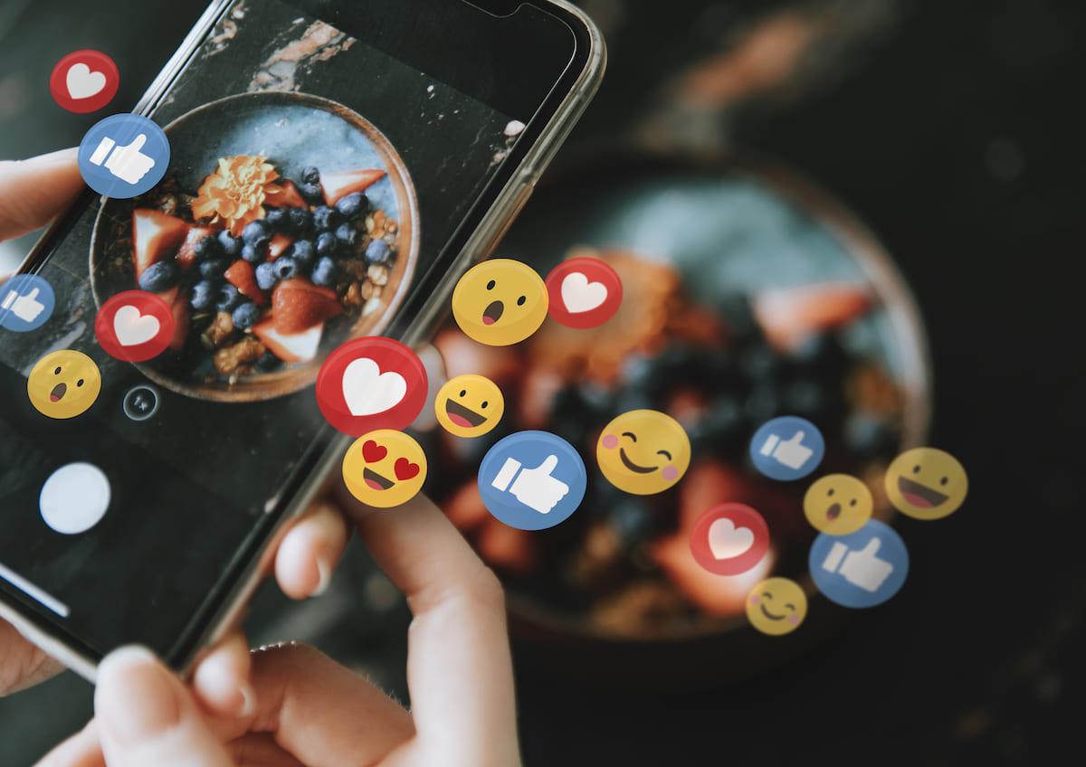 redes sociais para restaurantes